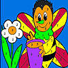 Alone honey bee coloring game
