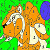 Alone wild tiger coloring game