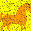Alone horse coloring game