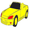 Amazing fast car coloring game