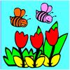 Bees coloring game