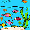 Best ocean fishes coloring game