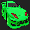 Best concept green car coloring game