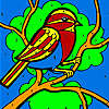 Bird on a tree coloring game