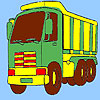 Big transport truck coloring game