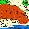 Big otter in the river coloring game