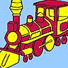 Big army train coloring game