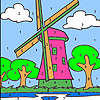 Big windmill coloring game