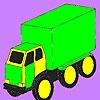 Big cargo car coloring game