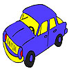Blue speedy car coloring game