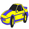 Blue classic car coloring game