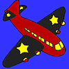 Black wings airplane coloring game