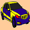 Blue fast car coloring game