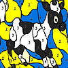Black spotted cow coloring game