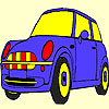 Blue cute car coloring game