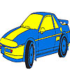 Blue luxury car coloring game