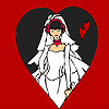 Bride in the heart frame coloring game
