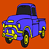 Building truck coloring game