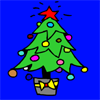 Christhmas Tree colouring game