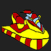 Colorful jet ski coloring game
