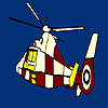 Colorful flying helicopter coloring game