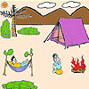 Cute picnic time coloring game