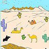 Desert and camels coloring game