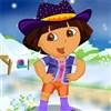 Dora the Winter Explorer Dressup game