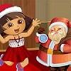 Dora with Santa Dressup game