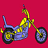 Fast harder motorbike coloring game