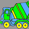 Fast concrete truck coloring game