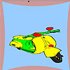 Fast motorcycle coloring game