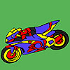 Fascinating motorbike coloring game
