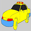 Fast police car coloring game