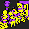 Fast purple train coloring game