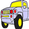 Fast jeep coloring game