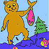 Fisher bear coloring game