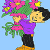 Florist boy coloring game