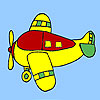Four seater aircraft coloring game