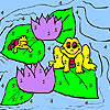 Frogs and water lily coloring game
