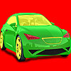Full speed car coloring game