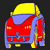 Funny hot car coloring game