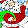Funny santa coloring game