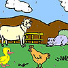 Funny farm animals coloring game