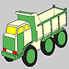 Futuristic truck coloring game