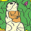 Funky mole coloring game