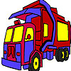 Garbage truck coloring game