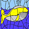 Giant whale coloring game