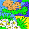 Green garden and hungry squirrel coloring game
