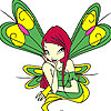 Green winged fairy coloring game
